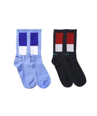 [OVDY] TWO SQUARE SOCKS_DYMXAVW6901